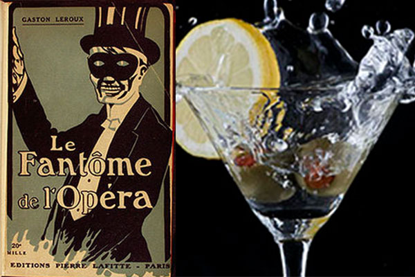 phantom of the opera paired with a martini