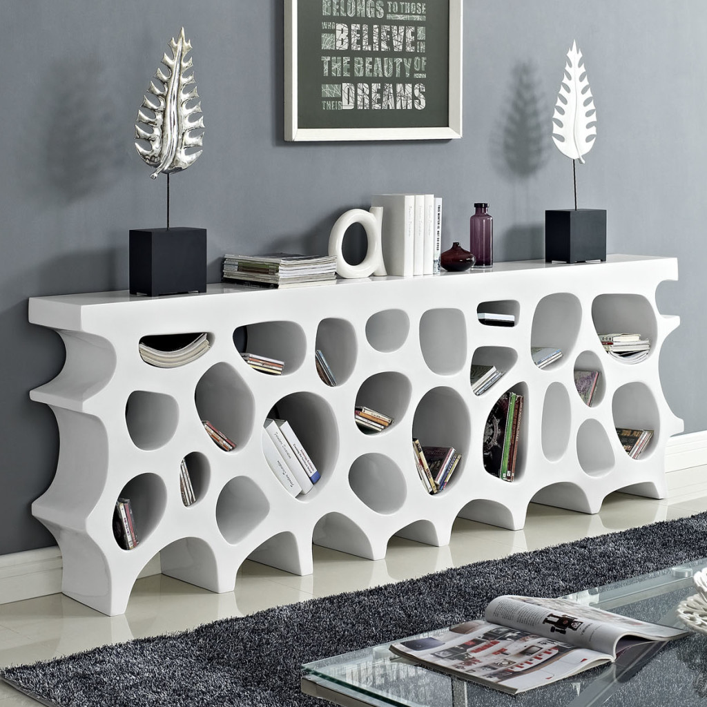 bookcase magazine rack