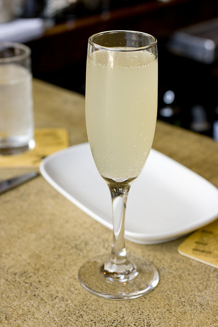 Mimosa with White Cranberry Juice
